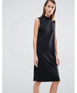 Selected | Цельнокройное Платье С Высокой Горловиной Coda Черный