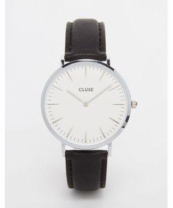 Cluse | Серебристые Часы С Кожаным Ремешком La Boheme Cl18208