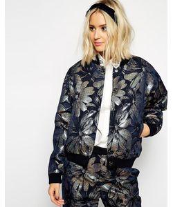 ASOS Black   Куртка С Голографическим Цветочным Принтом