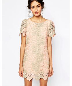 Soma London | Heavy Metallic Crochet Lace Shift Dress