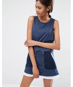 Nike | Платье С Сетчатой Отделкой Premium Синий