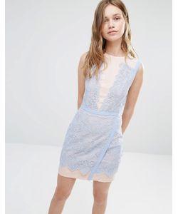 Greylin | Двухцветное Кружевное Платье Lana Periwinkle