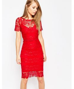 Body Frock | Кружевное Платье С Моделирующим Эффектом Lisa Красный