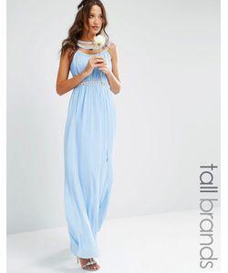 TFNC Tall | Платье Макси С Отделкой Wedding Кашемировый Синий