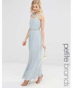 TFNC Petite | High Neck Embellished Maxi Dress