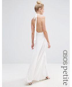 ASOS PETITE | Платье Макси С Открытой Спиной Для Миниатюрных Кремовый