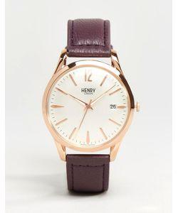 Henry London | Часы С Фиолетовым Ремешком Hampstead Hl39-S-0082 Фиолетовый