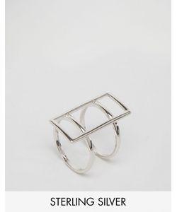 Lavish Alice   Серебряное Кольцо С Прямоугольной Планкой Серебряный