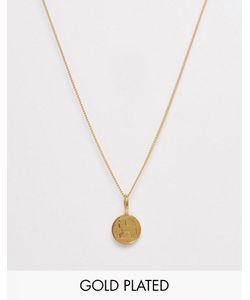 Katie Mullally | Позолоченное Ожерелье С Ирландским Трехпенсовиком