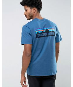 Patagonia | Синяя Футболка Классического Кроя С Логотипом На Спине P-6