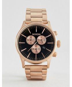 Nixon | Золотисто-Розовые Часы С Хронографом Sentry