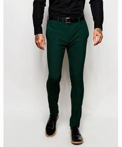 Asos | Зеленые Супероблегающие Брюки