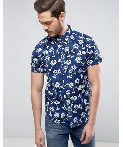 Wrangler | Рубашка Классического Кроя С Короткими Рукавами И Пальмовым Принтом
