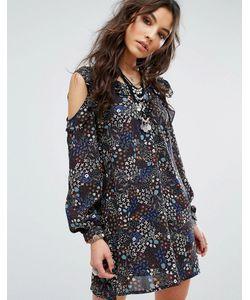 Glamorous | Платье С Цветочным Принтом Открытыми Плечами