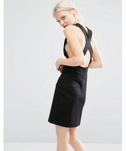 Weekday | Облегающее Платье С Открытой Спинкой Черный