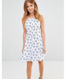 Millie Mackintosh | Платье Мини С Цветочным Принтом И Пуговицами Синий