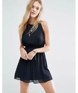 Abercrombie and Fitch | Шифоновое Платье С Высоким Воротом И Отделкой Помпонами Abercrombie Fitch