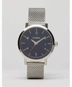 Nixon   Часы Серебряного Цвета С Сетчатым Ремешком Rollo 38
