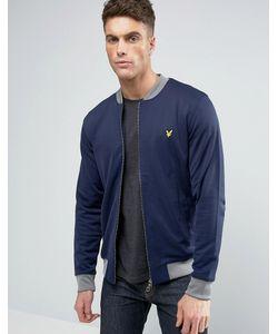 Lyle&Scott | Темно-Синяя Куртка-Пилот С Контрастной Отделкой В Рубчик И Логотипом Lyle
