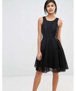 Vero Moda | Кружевное Короткое Приталенное Платье Черный