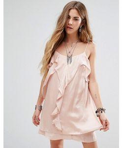 Honey Punch | Платье На Бретельках С Оборкой Спереди