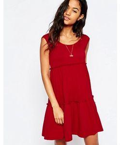 Asos | Свободное Ярусное Платье Без Рукавов