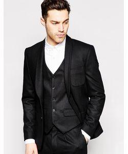 Peter Werth | Узкий Шерстяной Пиджак Premium Черный