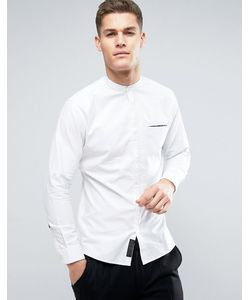 Produkt | Рубашка Из Шамбре С Воротником На Пуговице И Карманом