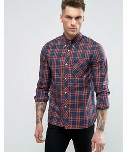 Fred Perry Laurel Wreath | Fred Perry Reissues Shirt Tartan Check Slim Fit In Navy