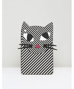Lulu Guinness | Полосатый Чехол Для Ipad Mini В Виде Кошки