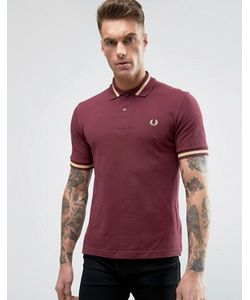 Fred Perry Laurel Wreath | Fred Perry Reissues Polo Single Tipped M2 Pique In Aubergine/Champagne