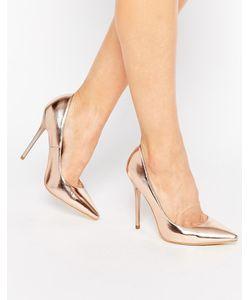 Public Desire | Туфли-Лодочки Оттенка Розового Золота Josie Цвет Розового Золота/Металлик