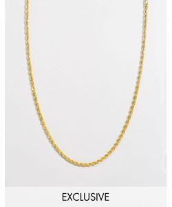 Reclaimed Vintage | Золотистое Ожерелье 4 Мм