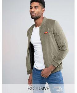 Ellesse | Велюровая Куртка-Пилот С Небольшим Логотипом