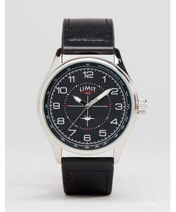 Limit | Часы С Черным Кожаным Ремешком Pilot Черный