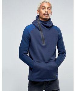 Nike | Голубое Флисовое Худи Tech 805655-451
