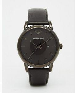 Emporio Armani | Черные Часы С Кожаным Ремешком Ar1732