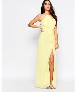 VLabel London | Платье Макси С Разрезом Vlabel Temple Желтый
