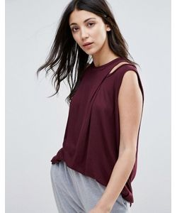 Y.A.S. | Y.A.S Drape Front Tunic Top