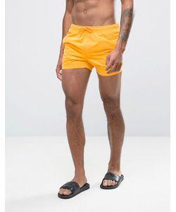 Asos | Желтые Короткие Шорты Для Плавания