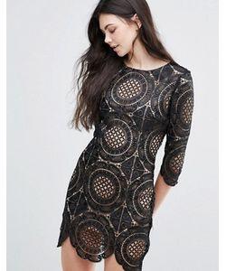 Goldie | Кружевное Платье Мини С Вышивкой London Calling