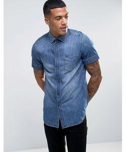 Diesel | Джинсовая Рубашка Классического Кроя С Короткими Рукавами D-Kendale