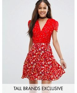 Glamorous Tall   Чайное Платье С Цветочным Принтом