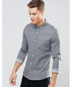 Asos | Светло Джинсовая Рубашка Скинни