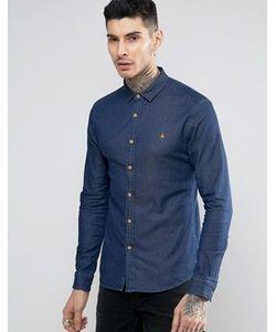Asos | Джинсовая Зауженная Рубашка С Логотипом