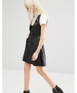 Cheap Monday | Платье Из Искусственной Кожи С Глубоким V-Образным Вырезом
