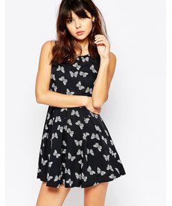 Mela Loves London | Короткое Приталенное Платье На Молнии С Бабочками