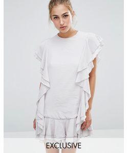 Sister Jane | Платье С Оборками Sandalwood Серый