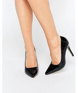 Head Over Heels | Черные Лакированные Туфли-Лодочки На Каблуке By Dune Audrine