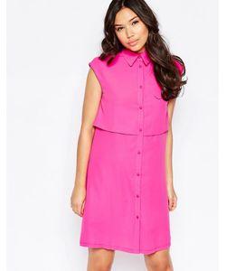 Twin Sister   Цельнокройное Платье Fluro Pink